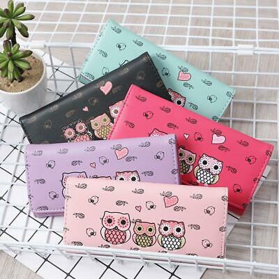Women Simple Retro Owl Printing Long Wallet Coin Purse Card Holders Storage P3 • 4.06£