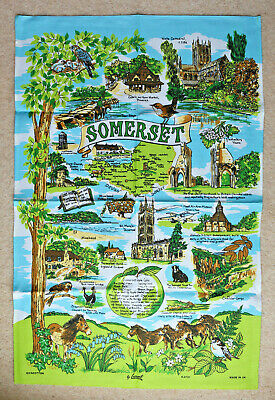 New Tea Towel Somerset By Lamont - 100% Cotton • 3.50£