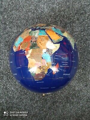 Lapis Gemstone Blue Globe Only Upcycle Crafting See Description • 14.90£