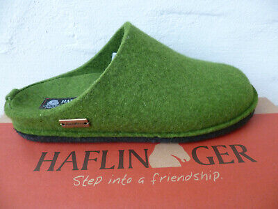 Haflinger Ladies Slippers House Shoes Mules Green New • 57.63£