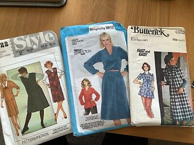 3 X Ladies Vintage Dressmaking Patterns Dress Pinafore Top • 4.50£