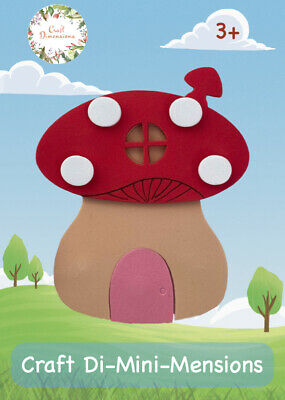 £4.99 • Buy Fairytale Toadstool Craft Foam Card Kit For Young Children. Makes 5. Age 3+