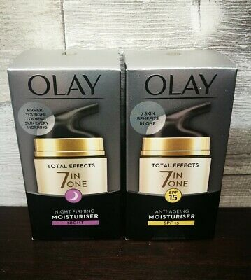 AU29.96 • Buy 2  Off Olay Total Effects 7 In One Anti-Ageing Moisturiser, Day And Night Bundle