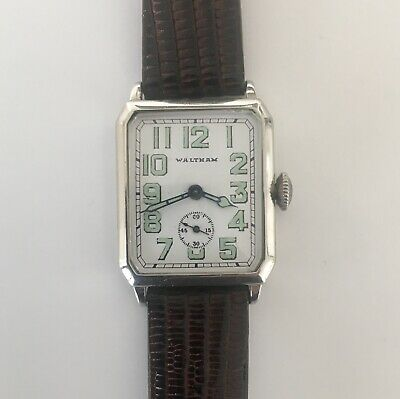 $ CDN189.84 • Buy Waltham 14K White Gold 1927 Radium Dial Vintage Men's Watch Engraved Back