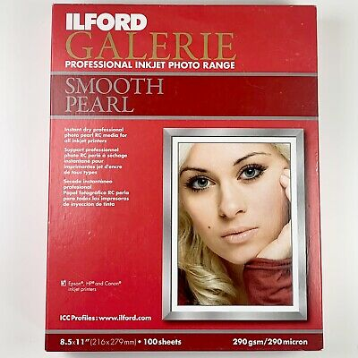 Ilford GALERIE Prestige Smooth Pearl Paper 8.5 X 11  - 100 Sheets Total 280gsm • 25.33£
