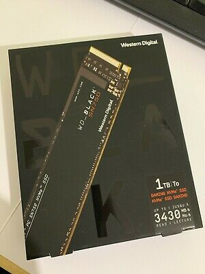 Western Digital WD Black SN750 NVMe Solid State Drive 1TB WDS100T3X0C Brand New • 86£