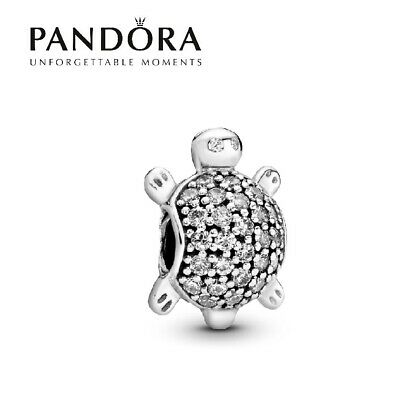 £14.99 • Buy Brand New Silver PANDORA S925 ALE Pave Sea Turtle Charm Pouch