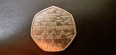 COLLECTABLE 50p COIN  BATTLE OF BRITAIN  FIFTY PENCE COIN 2015 • 2.99£
