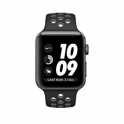 $ CDN201.35 • Buy Apple Watch Nike+ 42mm Space Gray Aluminium Case With Anthracite/yellow Band