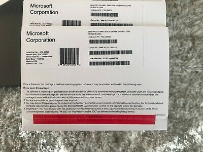 $ CDN164.93 • Buy OEM Genuine Microsoft Windows 10 Pro Professional DVD W/ COA V. 2004 FQC-08930