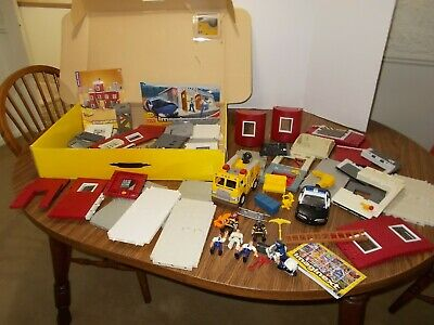 Fisher-Price IMAGINEXT Fire Station Rescue Center Police Station Squad Car ++++ • 21.70£