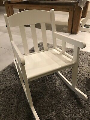 Ikea  Children's White Rocking Chair SUNDVIK • 5£