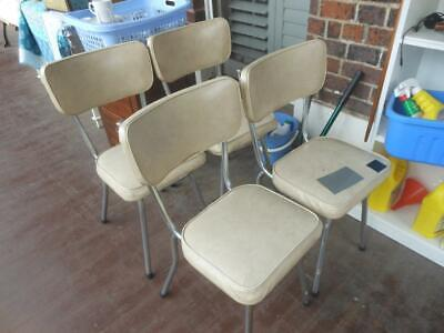 AU8 • Buy Retro Vintage Kitchen // Dining Chairs X 4 Seat & Back Cushioned ~Oakleigh