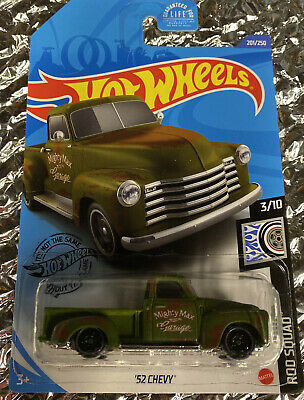 AU8.90 • Buy 2020 Hot Wheels #Green 52 Chevy Pickup Truck Rod Squad #201
