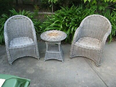 AU94.99 • Buy Matching Wicker 3 Piece Outdoor Setting  .