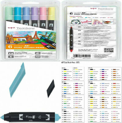 Tombow ABT Dual Brush Pen - Pastel (Pack Of 6)  • 21.39£