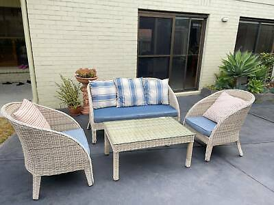 AU660 • Buy 5 Seater Sofa Set Outdoor Furniture Lounge Setting Wicker Chairs Table