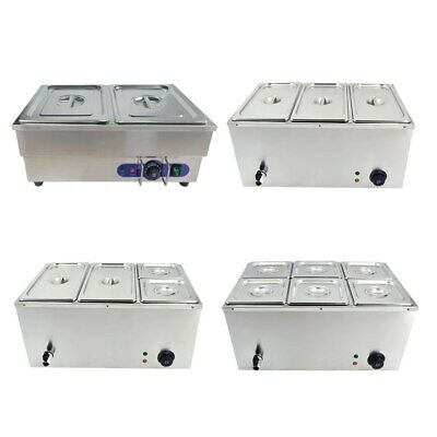 £109.80 • Buy Commercial Bain Marie Electric Food Warme With Pans Stainless Steel Pot Cookware