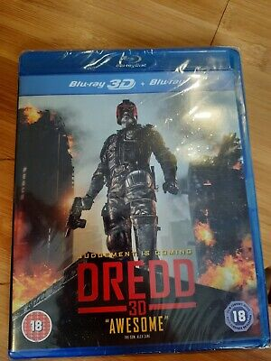Dredd 3d Blu Ray (3d + Blu-ray) New And Sealed • 0.99£