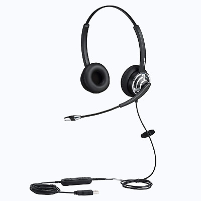 MAIRDI USB Headset With Noise Cancelling Microphone For Office Call Center Skype • 53.38£