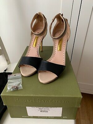 £80 • Buy Rupert Sanderson Ankle Strap Sandals With Zip At The Back Size: 37.5