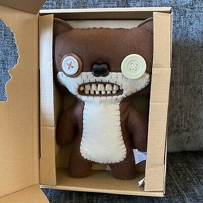 "$ CDN26.28 • Buy Boxed FUGGLER Nightmare Bear Brown Felt 9"" Rare Series 1 - Funny Ugly Monster"