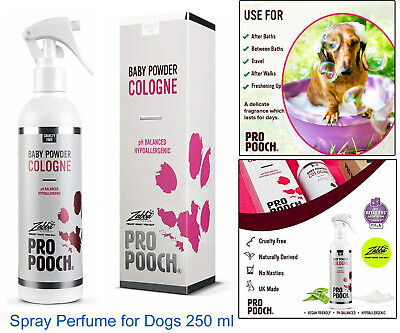 £10.10 • Buy PRO POOCH DOG BABY POWDER Scented COLOGNE Spray Perfume For Dogs 250 Ml