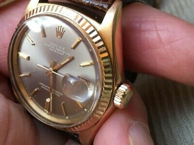 $ CDN7952.49 • Buy Rolex Datejust 18k Gold Ref: 1601 On Rolex Band And Buckle Minty