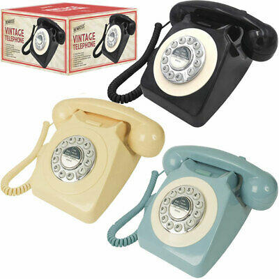 Classic British Retro Vintage Style Home Telephone Push Button Dial Bell Ringer • 25.95£