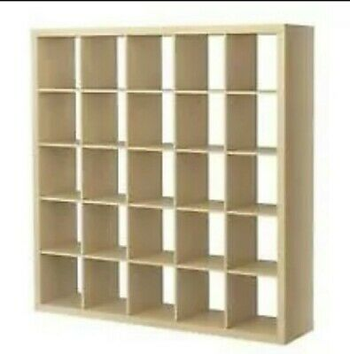 Ikea Expedit 25 5x5 Shelving Unit Birch Now Kallax Cube LP Vinyl Storage  • 140£