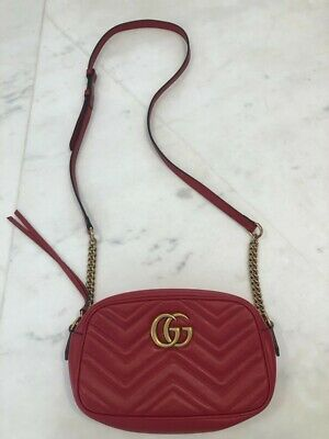 AU1000 • Buy Gucci Red Marmont Bag