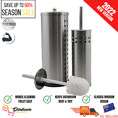 AU27.90 • Buy Spare Toilet Paper Roll Holder & Toilet Brush Stand Storage Bathroom Cleaning