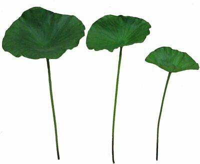 $ CDN24.04 • Buy PU Lotus Seeds Artificial Lotus Flowers Lotus Leaves Plants(3 Pcs Lotus Leaves)