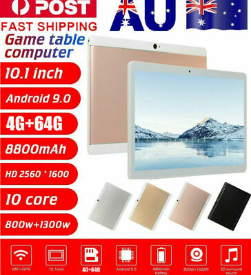 AU92.69 • Buy 10.1  Inch Tablet PC HD Android 9.0 4+64GB WIFI Dual SIM Camera GPS Phablet WPS