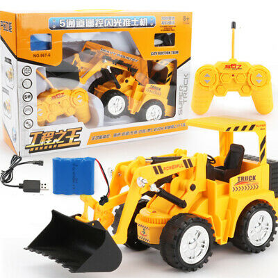 RC Excavator Shovel Remote Control Construction Bulldozer Truck Toy Light Gift • 12.99£