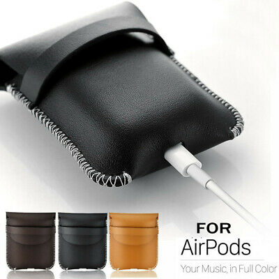 $ CDN11.38 • Buy For Apple AirPods Case Charging Leather Bag Protective Cover Carrying Pocket