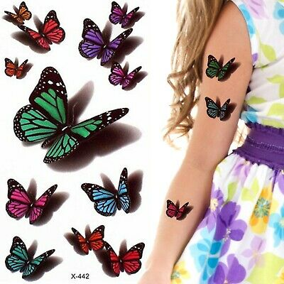 £1.99 • Buy Temporary Tattoo Butterfly Butterflies Small Kids Children Party Fillers