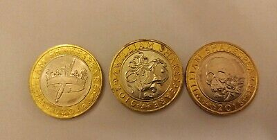 £2 Two Pound Coin William Shakespeare Comedies Tragedies Histories Full Set 2016 • 6£