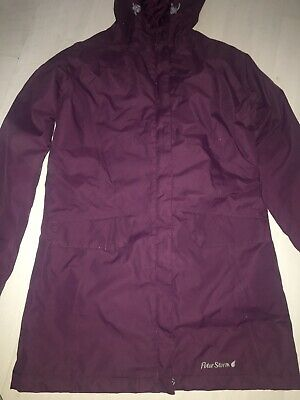 Ladies Peter Storm Plum Coat Jacket With Hood Size 8 • 0.99£