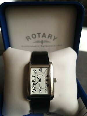 Rotary Mens Watch ~rectangular DesignNew Battery Feb21 W/lifetime Replacement  • 21.95£