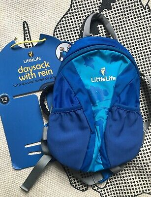 Little Life Runabout Toddler Backpack With Rein Blue Dinosaur Print VGC • 7.50£