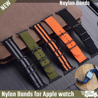 AU15.43 • Buy Nylon Strap For Apple Watch Band 42mm 38mm 40mm 44mm IWatch Serie SE 6 5 4 3 2 1