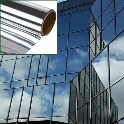 £4.99 • Buy New 2M*50CM Mirror One Way Reflective Window Tint Film Sticky Backed Tint HOT