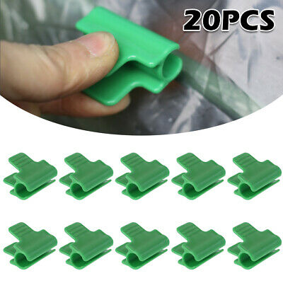 Greenhouse Clips Garden Polytunnel Plant Clamps Pipe Tools Mini 20pcs Portable • 5.99£