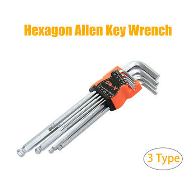 AU13.19 • Buy 9pcs Metric Hexagon Wrench Hex Allen Key 1.5-10mm Ball L-Wrench Repair Tools Set