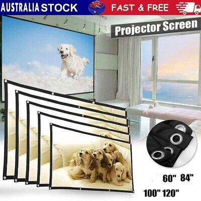 AU28.99 • Buy 120  Foldable Projector Screen Portable Outdoor Home Movie Cinema 16:9 HD 1080P