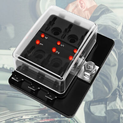 AU15.62 • Buy 6 Way Auto Blade Fuse Box Holder Block Panel 32V Car Power Distribution AU