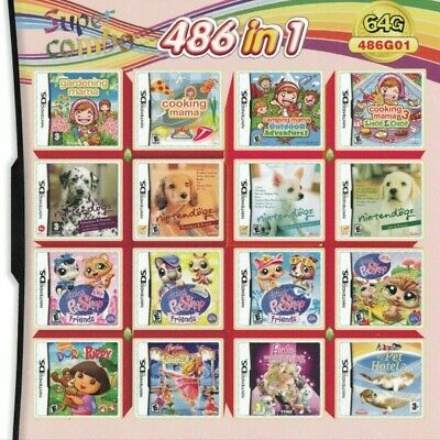 486 In1 Video Games Cartridge For Nintendo NDS NDSL NDSi 3DS 2DS Girl Games • 0.99£