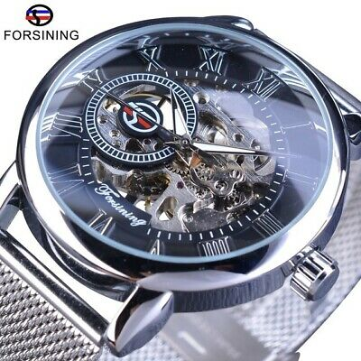 £16.99 • Buy Cassic Mens Watches Mechanical Skeleton Automatic Self-Winding Stainless Steel