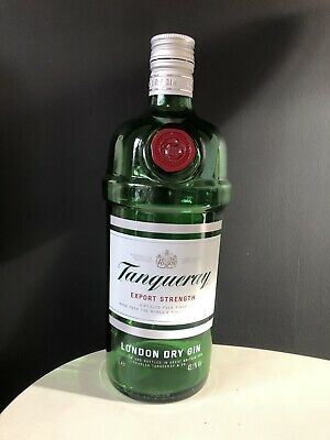 Empty Tanqueray Gin Glass Bottle 1L Upcycle Craft • 2£